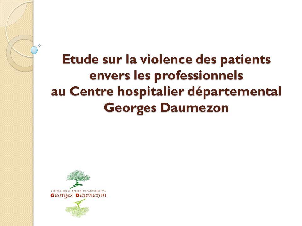 Etude sur la violence des patients envers les professionnels au Centre hospitalier départemental Georges Daumezon