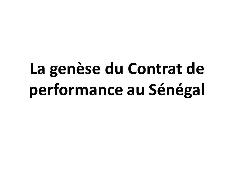 Procédures de suivi-évaluation des Contrats de performance