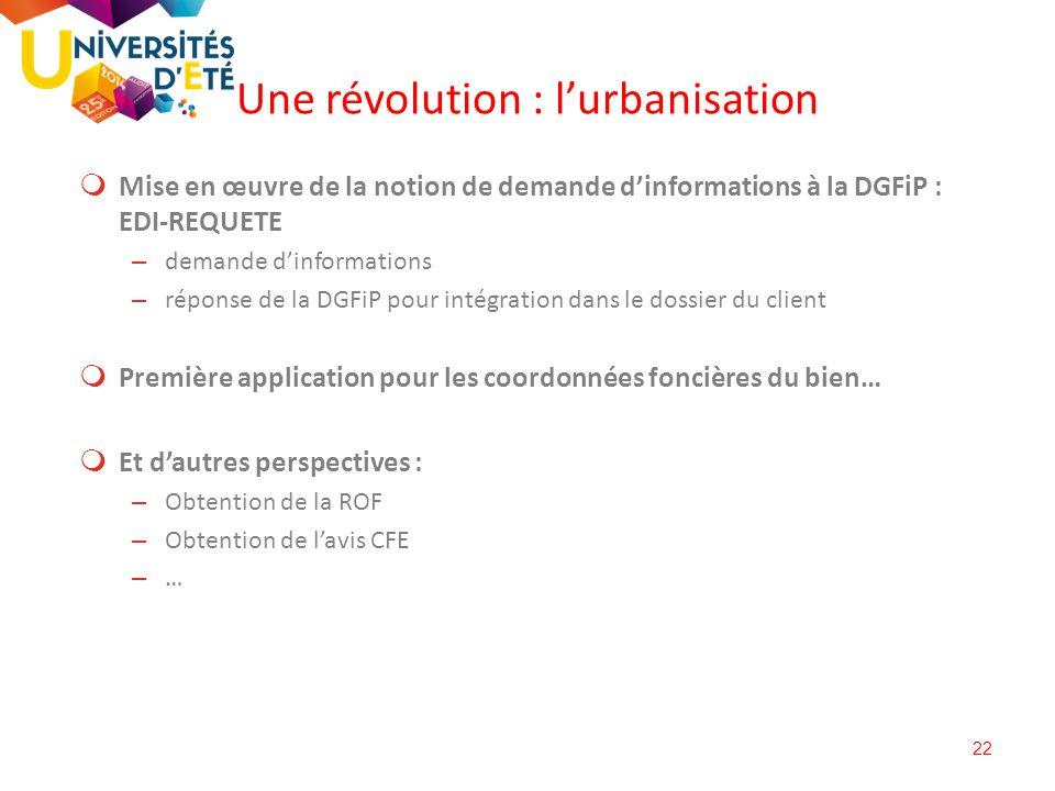 22  Mise en œuvre de la notion de demande d'informations à la DGFiP : EDI-REQUETE – demande d'informations – réponse de la DGFiP pour intégration dan