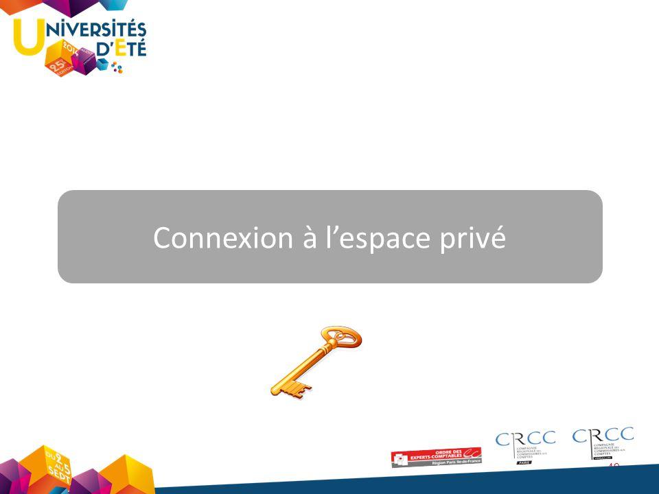 49 Connexion à l'espace privé