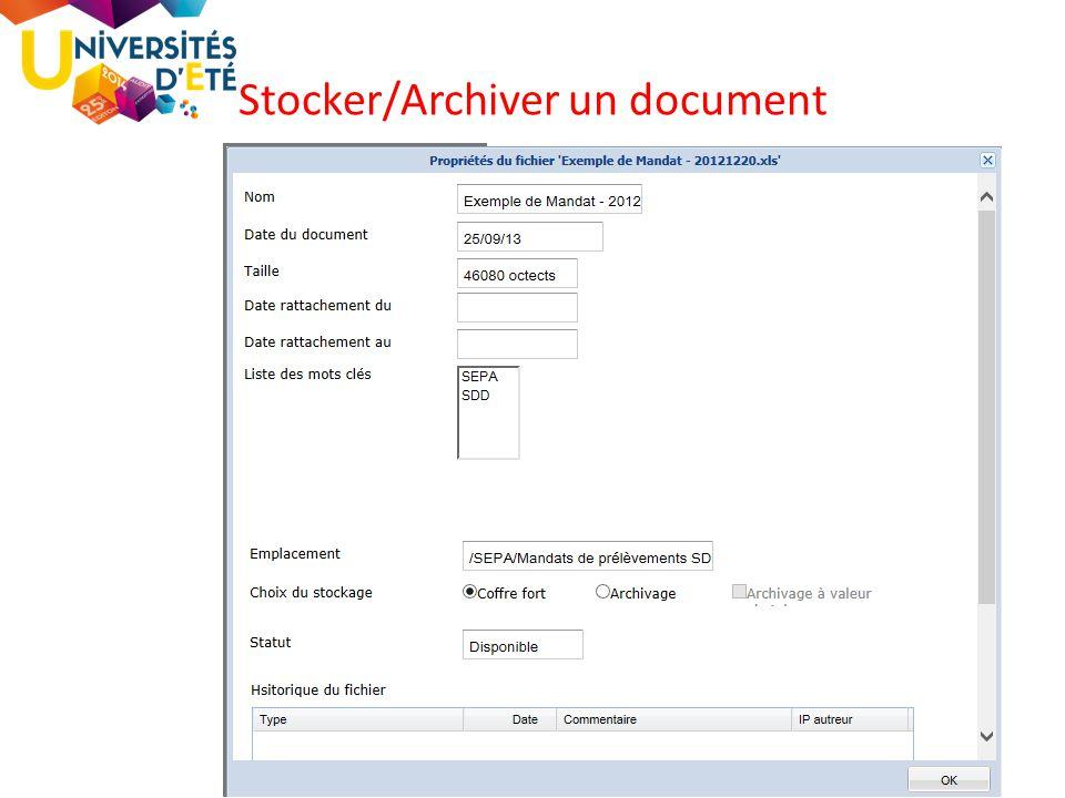 84 Stocker/Archiver un document