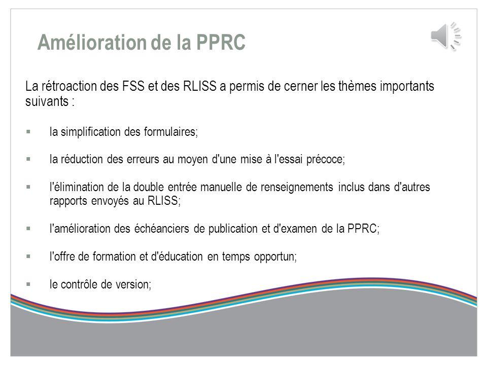 Parties de la PPRC La PPRC compte deux parties et quatre composants. Les deux parties et les quatre composants doivent être remplis par le FSS et envo