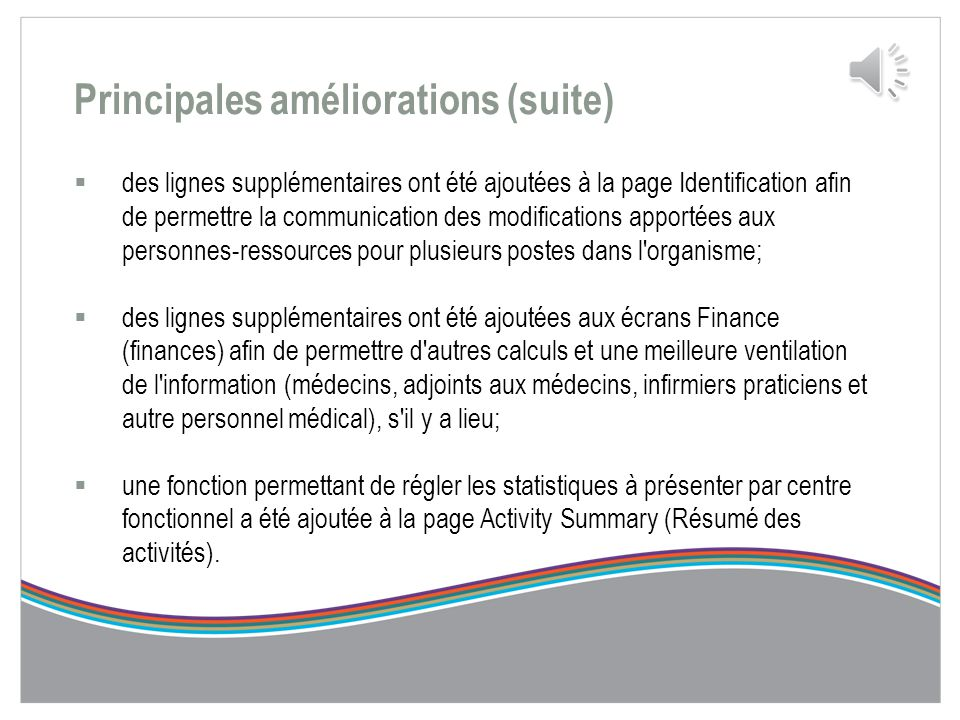 Principales améliorations entre la PPRC 2011-2014 et la PPRC 2014-2017 Des commentaires utiles ont été fournis à la suite de la PPRC et de l'ERS- M 20