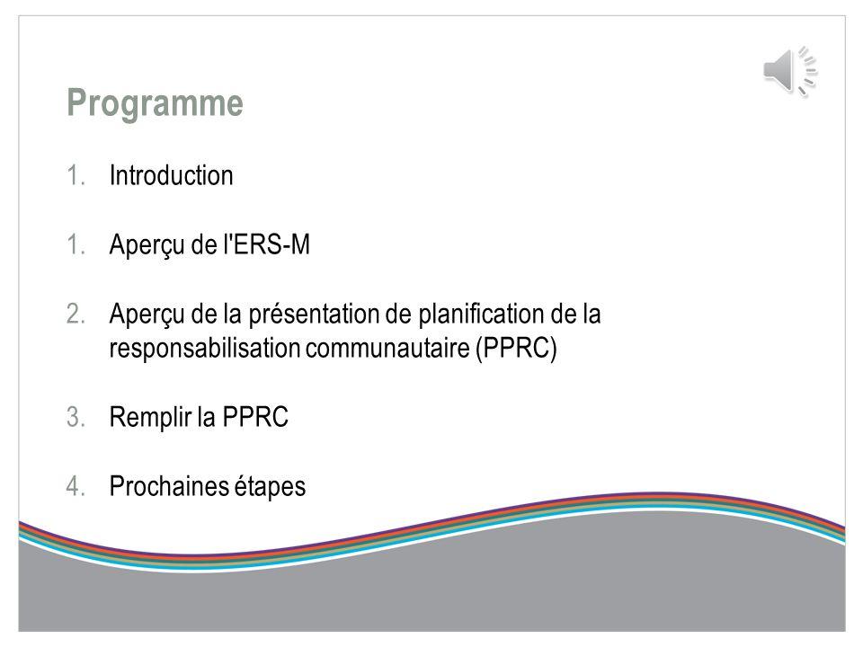 Présentation de planification de la responsabilisation communautaire (PPRC) 2014-2017 Séance d'orientation à l'intention des fournisseurs de services