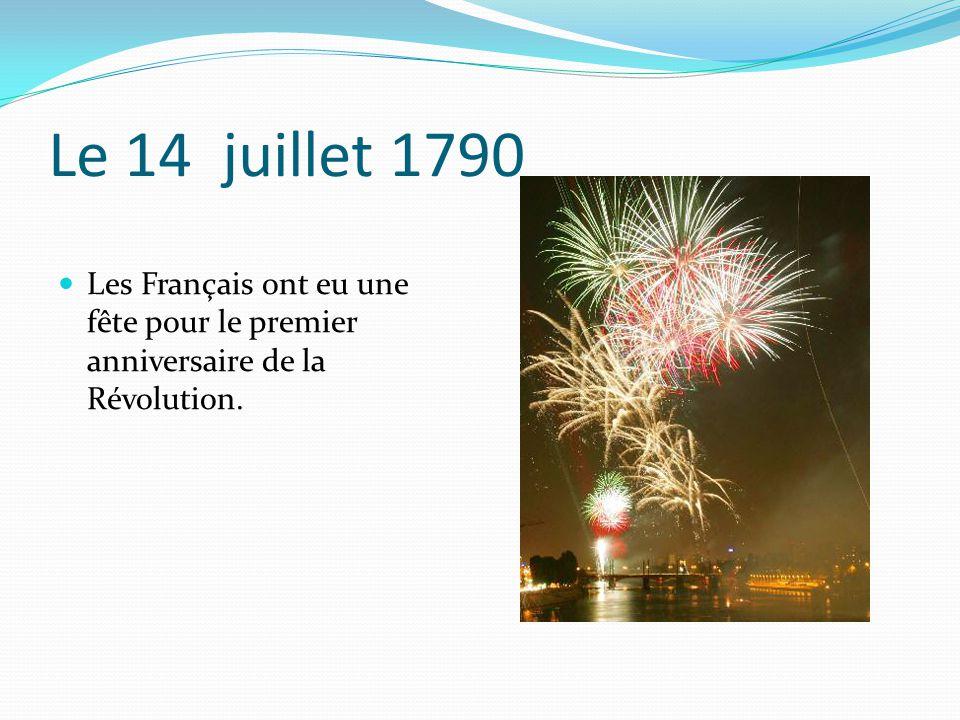 En septembre 1791 une nouvelle constitution a été signée