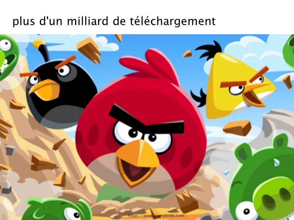 https://www.angrybirds.com/ plus d'un milliard de téléchargement