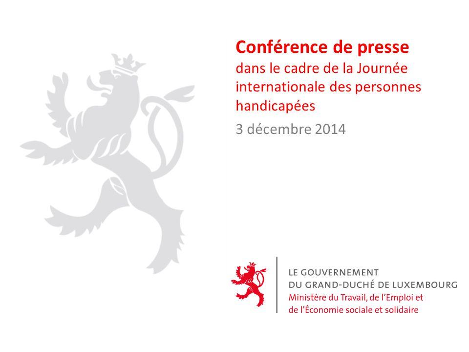 Conférence de presse dans le cadre de la Journée internationale des personnes handicapées 3 décembre 2014