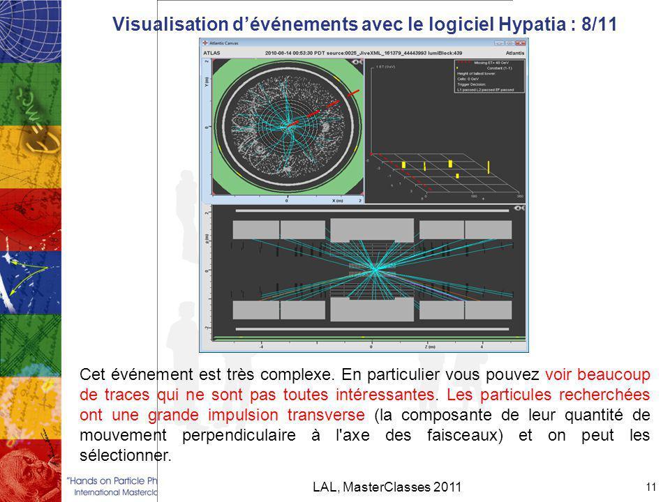Visualisation d'événements avec le logiciel Hypatia : 8/11 LAL, MasterClasses 2011 11 Cet événement est très complexe.