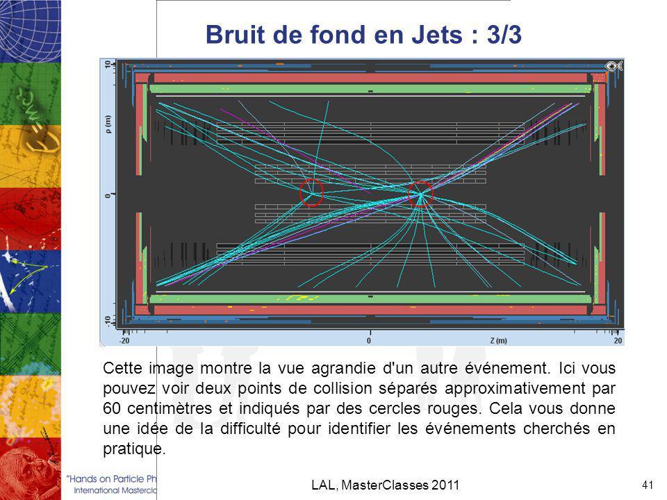 Bruit de fond en Jets : 3/3 LAL, MasterClasses 2011 41 Cette image montre la vue agrandie d un autre événement.