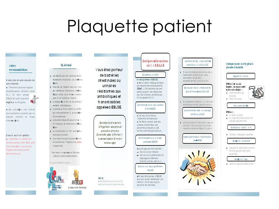 Plaquette patient