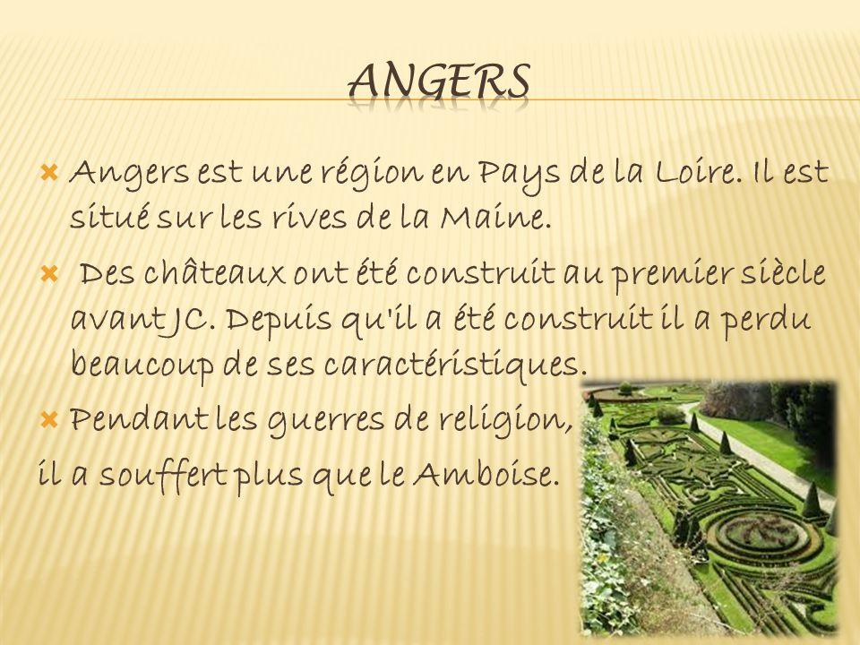  Angers est une région en Pays de la Loire. Il est situé sur les rives de la Maine.