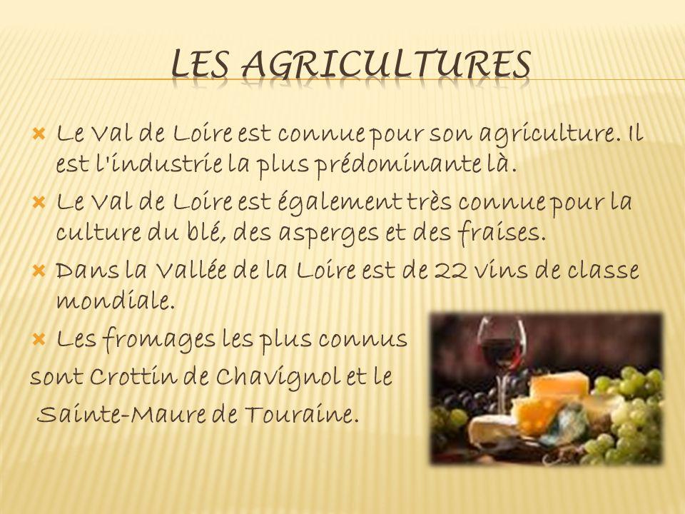 Le Val de Loire est connue pour son agriculture.