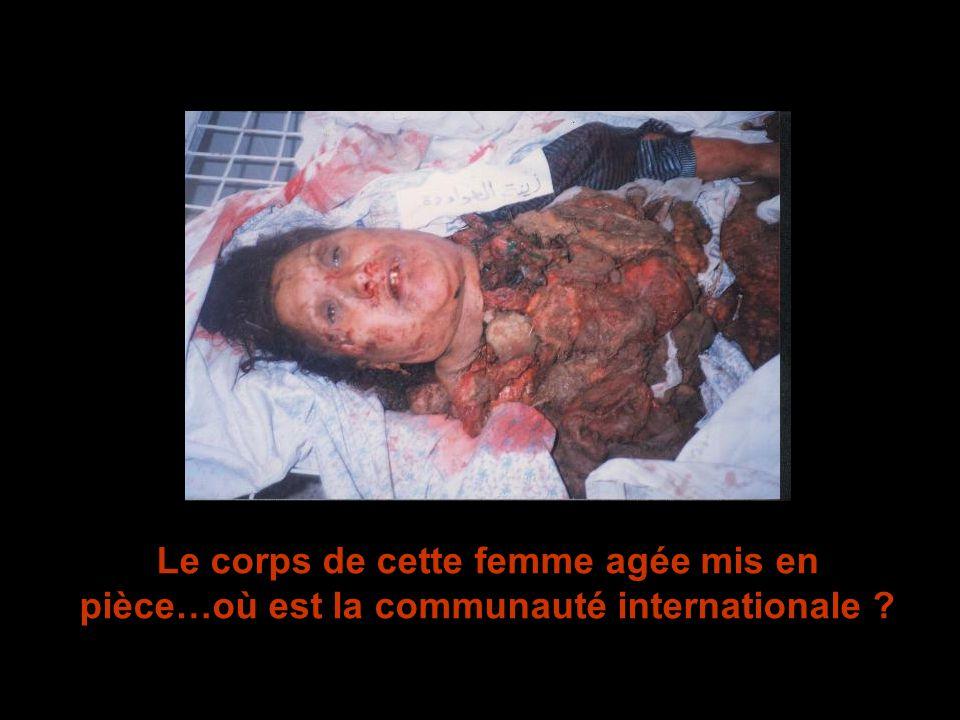Le corps de cette femme agée mis en pièce…où est la communauté internationale