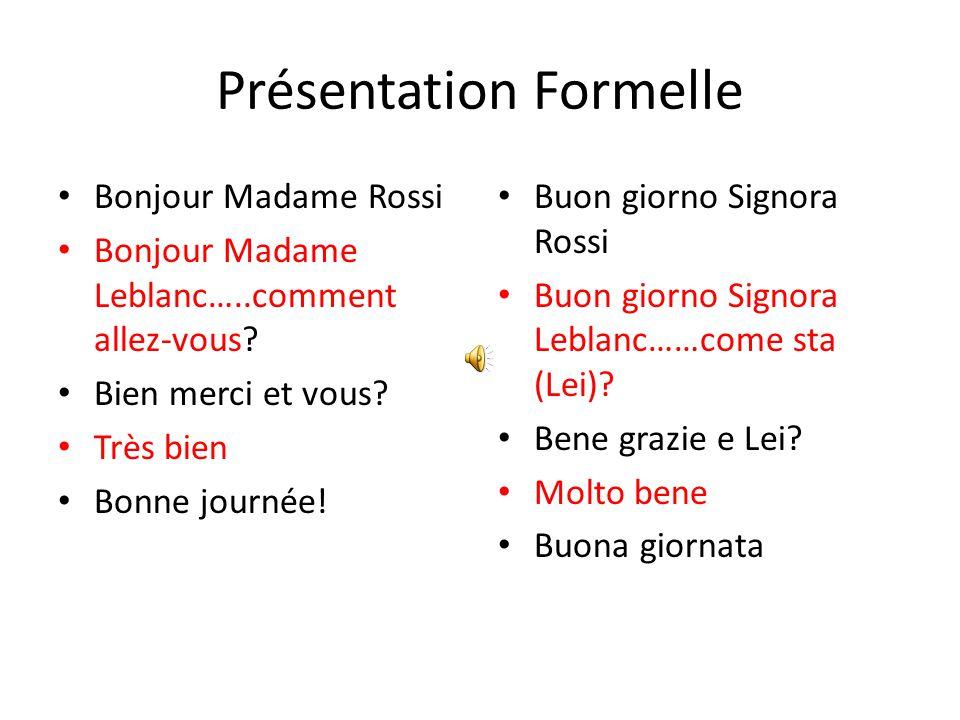 Présentation Amicale Salut Sandrine.-Salut Mara…ça va.