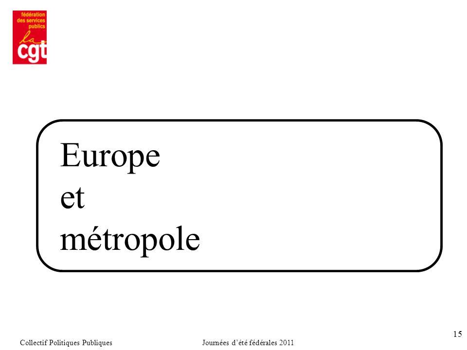 15 Europe et métropole Collectif Politiques PubliquesJournées d'été fédérales 2011