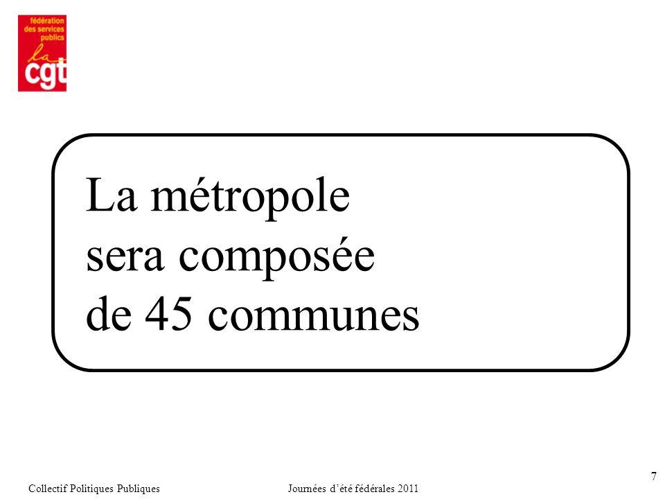 La métropole sera composée de 45 communes 7 Collectif Politiques PubliquesJournées d'été fédérales 2011