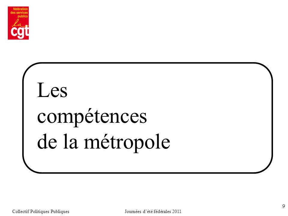9 Les compétences de la métropole Collectif Politiques PubliquesJournées d'été fédérales 2011