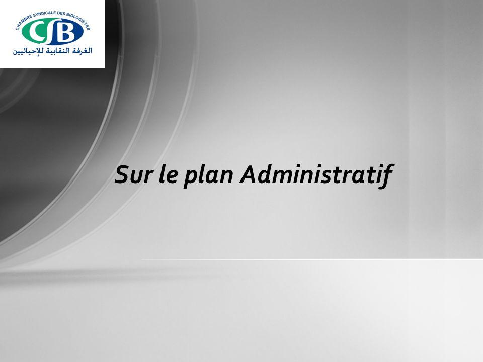 Sur le plan Administratif