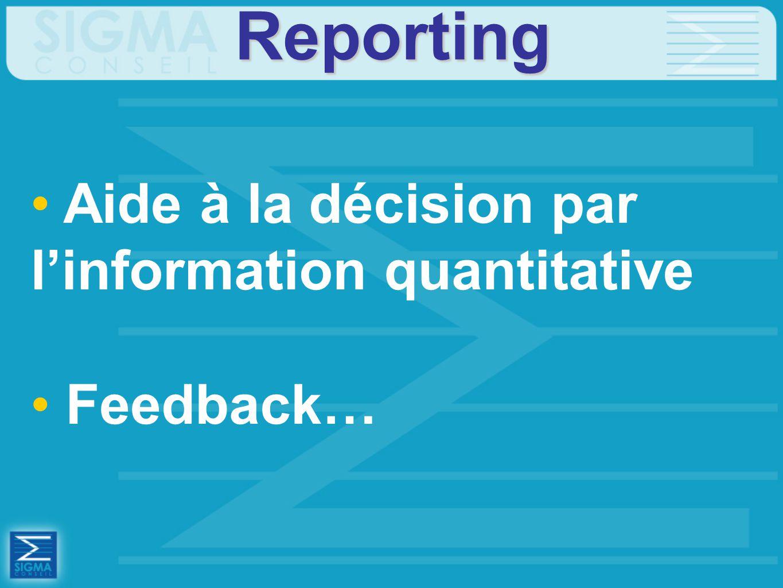 Reporting Aide à la décision par l'information quantitative Feedback…