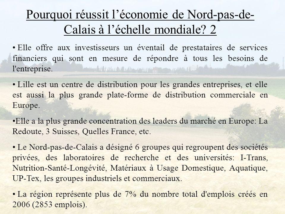 Pourquoi réussit l'économie de Nord-pas-de- Calais à l'échelle mondiale.