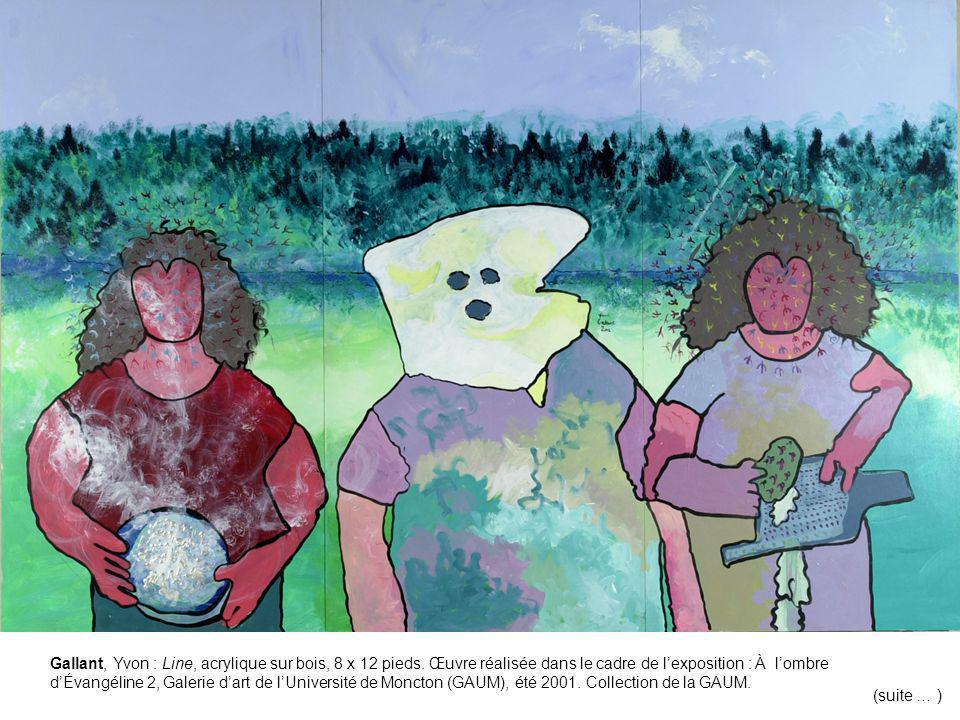 Gallant, Yvon : Line, acrylique sur bois, 8 x 12 pieds.