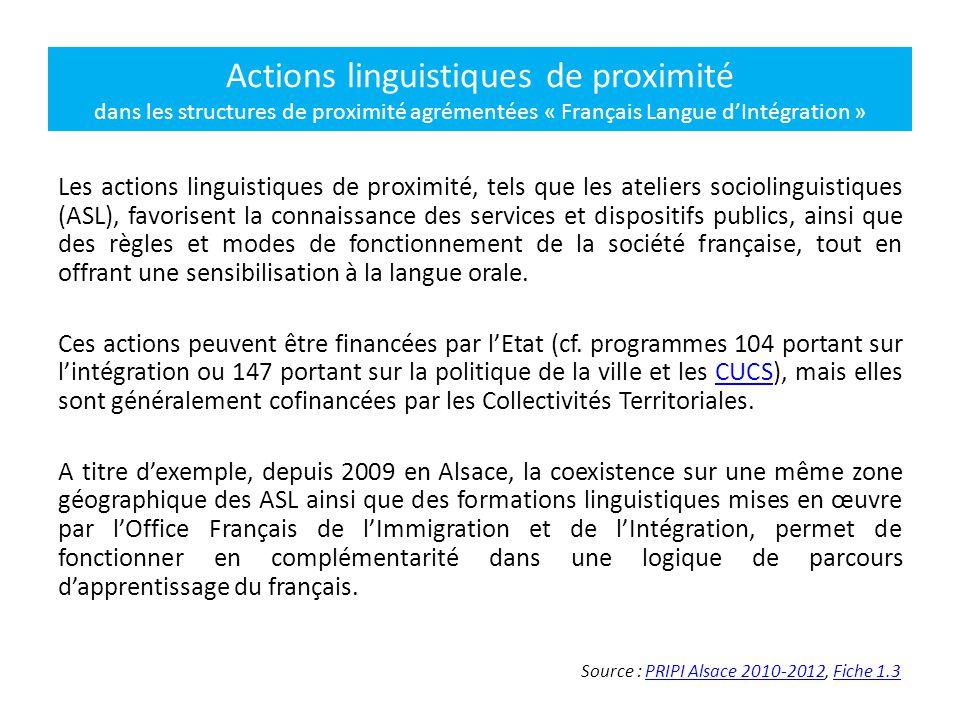 Les actions linguistiques de proximité, tels que les ateliers sociolinguistiques (ASL), favorisent la connaissance des services et dispositifs publics