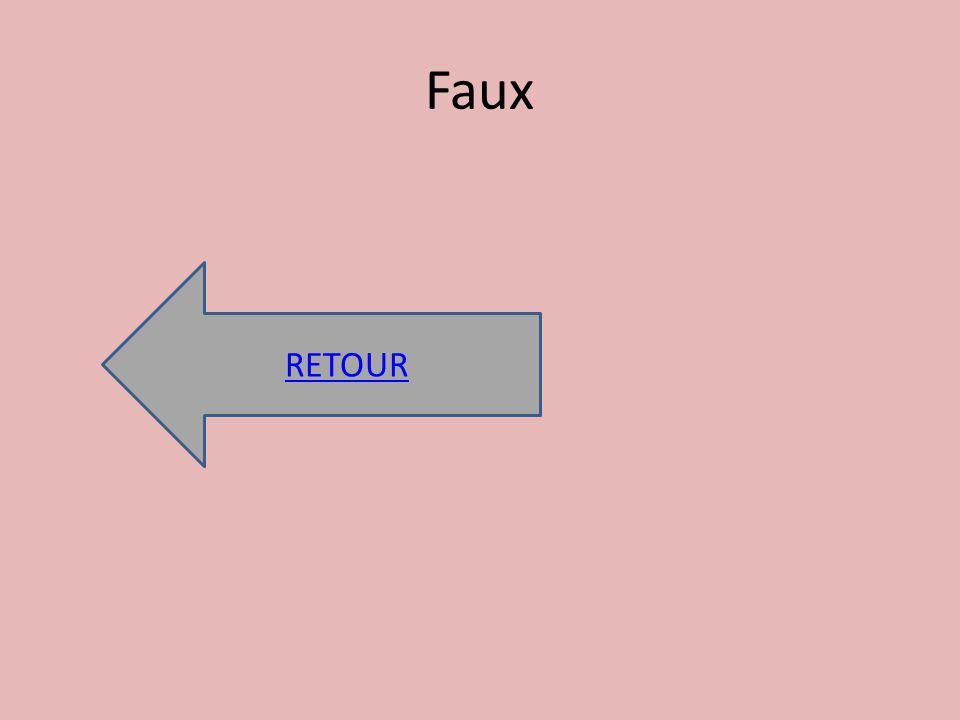 Faux RETOUR