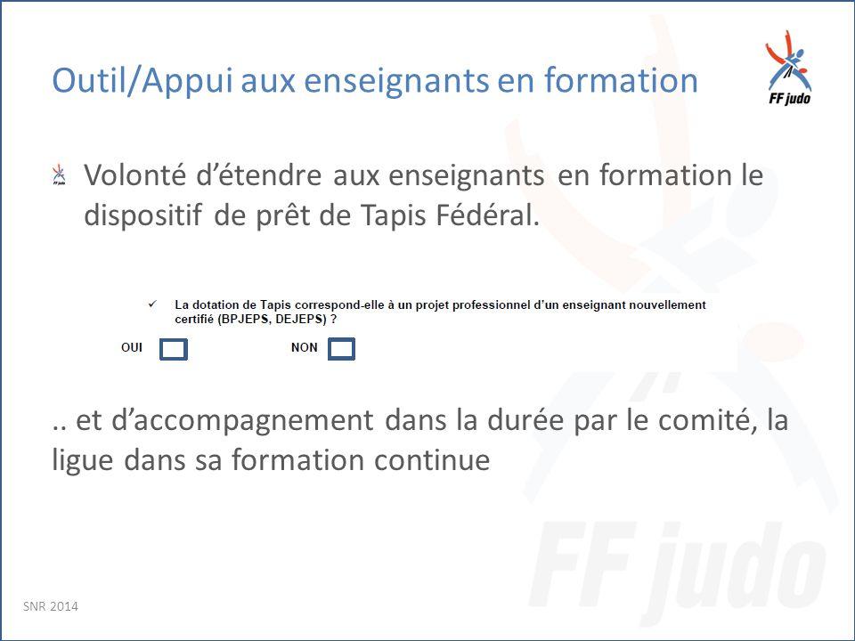 Outil/Appui aux enseignants en formation Volonté d'étendre aux enseignants en formation le dispositif de prêt de Tapis Fédéral...