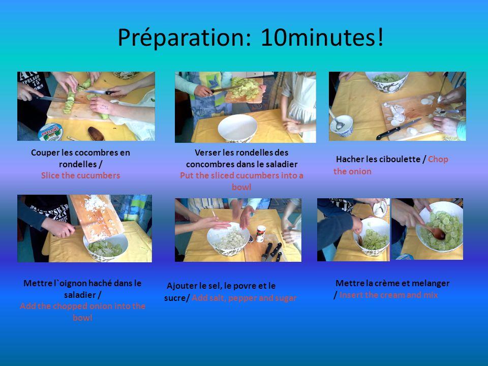 Préparation: 10minutes.