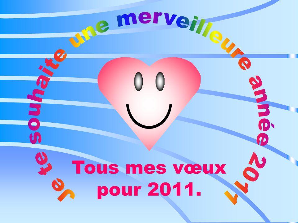 Tous mes vœux pour 2011.