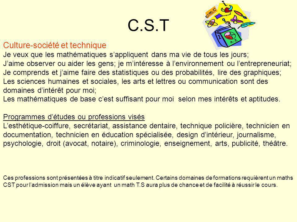 Suite….mathématiquesSciences T.S. ou S.N. T.S. ou S.N.