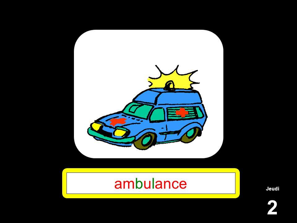 Jeudi 2 ambulance
