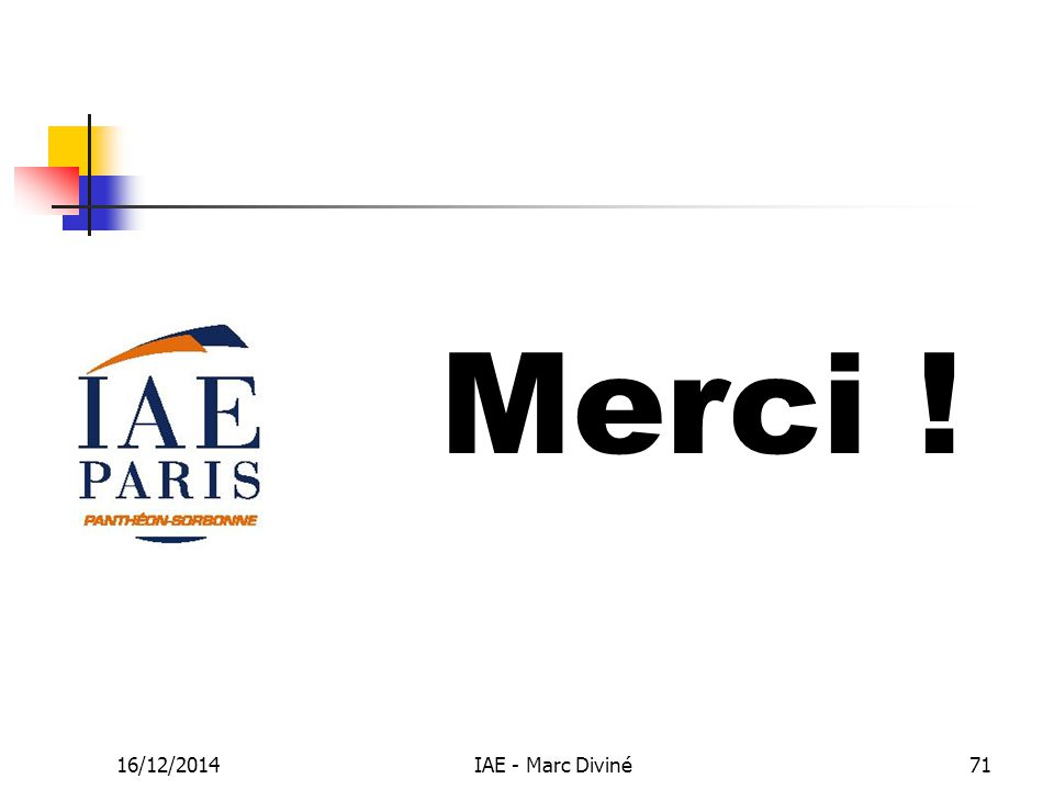 16/12/2014IAE - Marc Diviné71 Merci !
