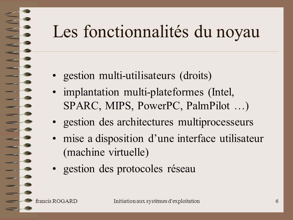 francis ROGARDInitiation aux systèmes d exploitation27 FIN