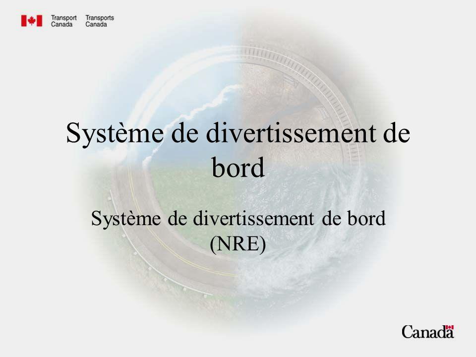 Système de divertissement de bord Système de divertissement de bord (NRE)