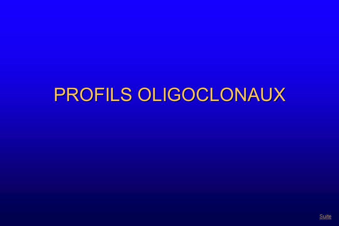 PROFILS OLIGOCLONAUX Suite
