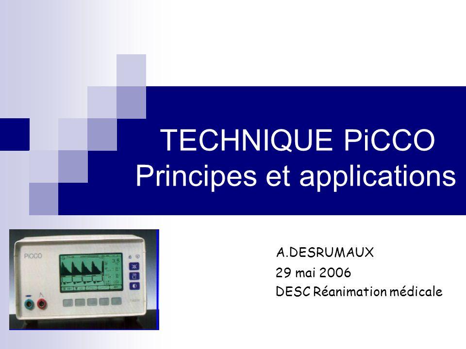 VES = ASC X k (k: facteur de calibration obtenu par thermodilution) t -∆T-∆T t -∆T-∆T Calibration t [s] P [mm Hg] SV Reference CO value from thermodilution Measured blood pressure(P(t), MAP, CVP)