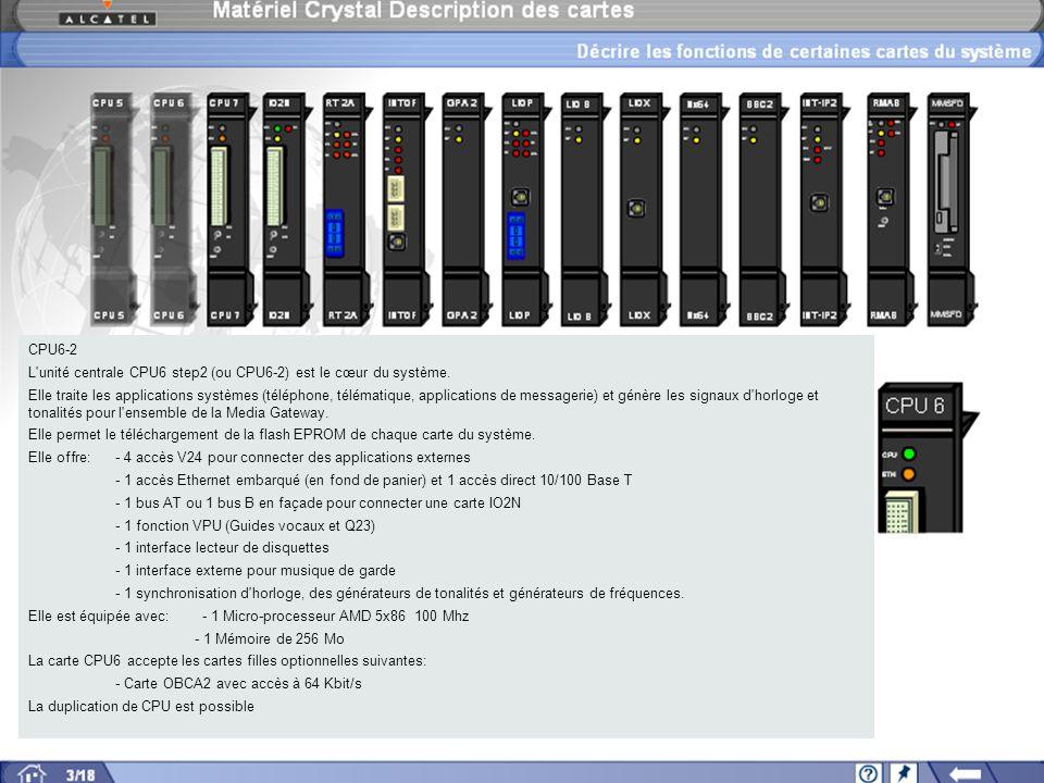CPU6-2 L unité centrale CPU6 step2 (ou CPU6-2) est le cœur du système.
