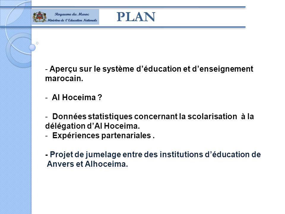 PLAN - Aperçu sur le système d'éducation et d'enseignement marocain.