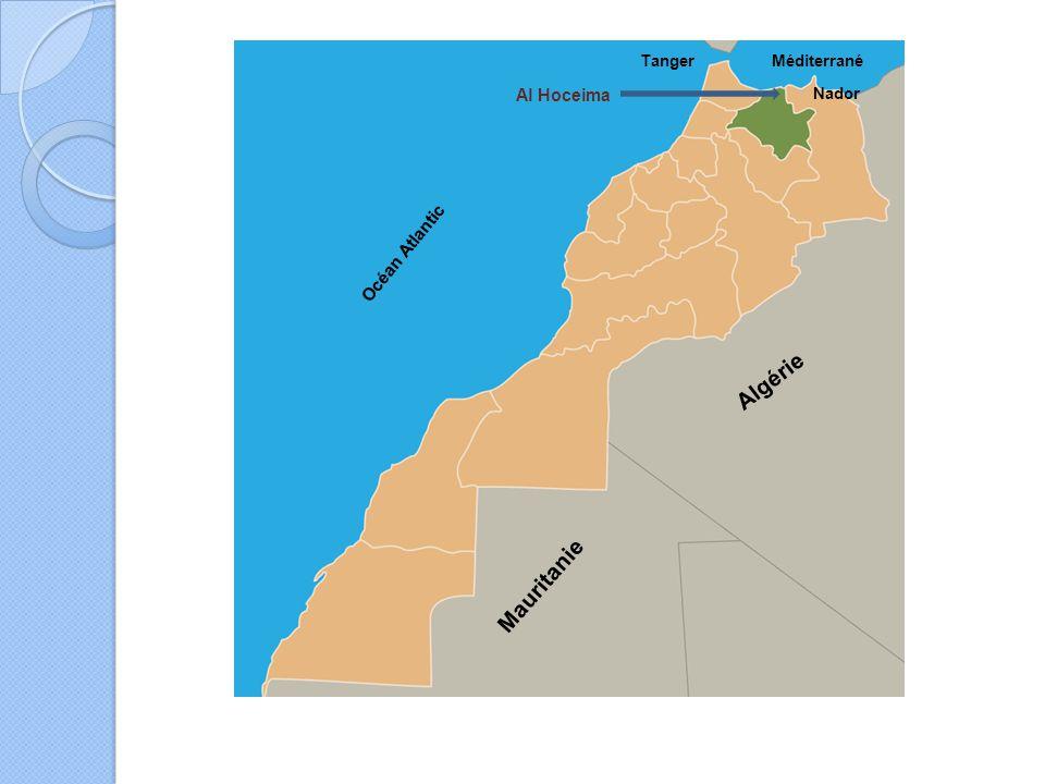 Océan Atlantic Méditerrané Mauritanie Algérie Al Hoceima Tanger Nador