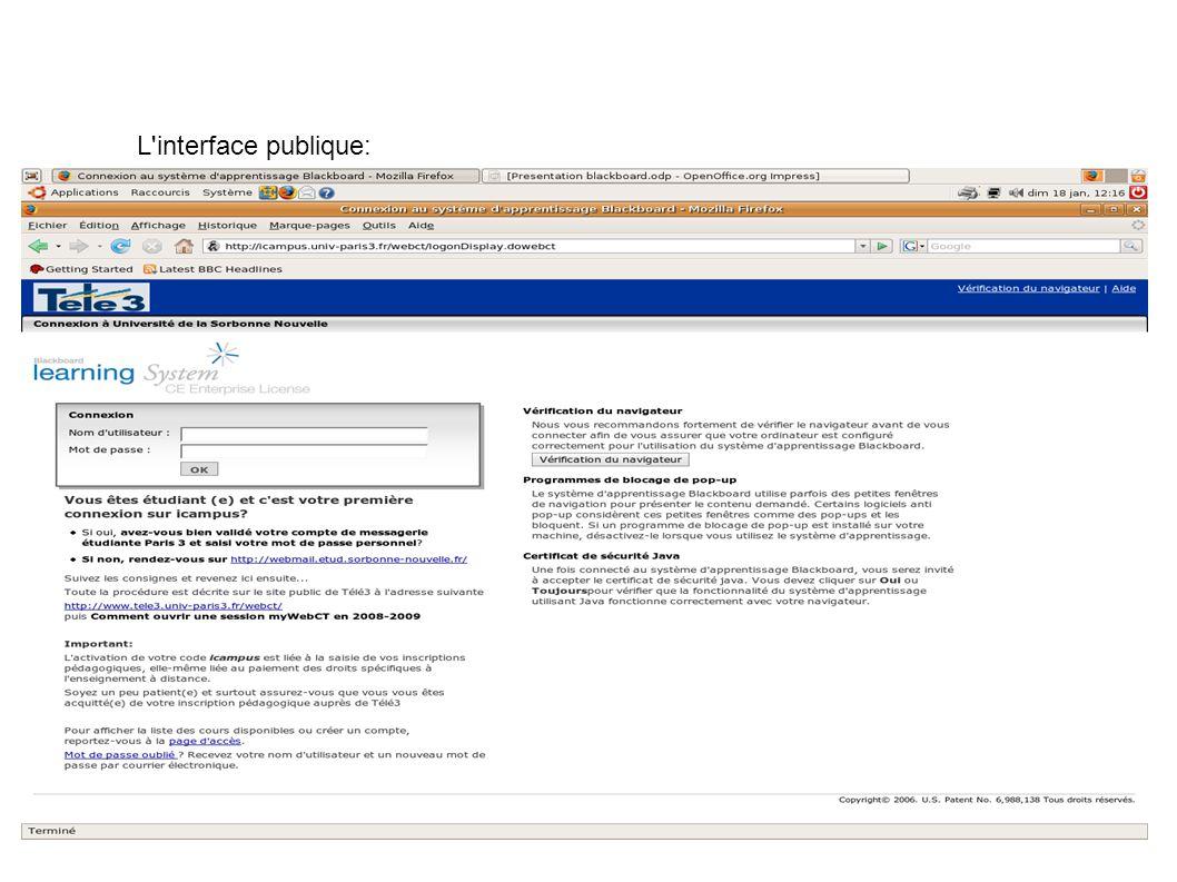 L interface privée:
