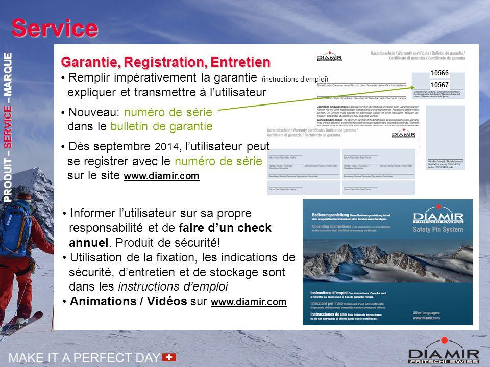 Service Garantie, Registration, Entretien Remplir impérativement la garantie (instructions d'emploi) expliquer et transmettre à l'utilisateur Nouveau: