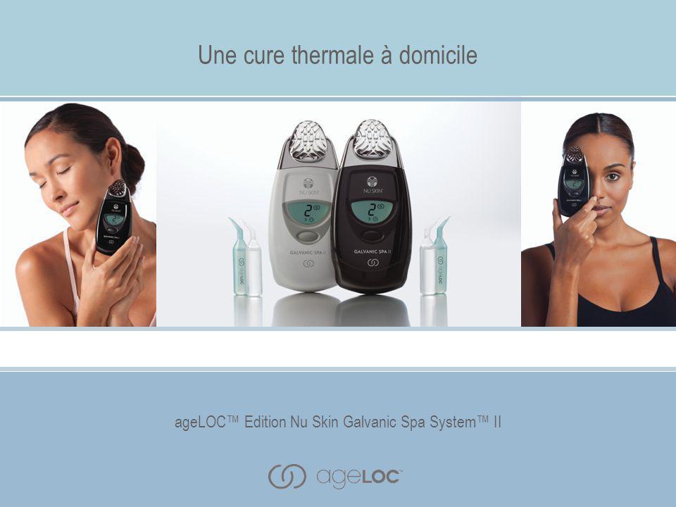 ageLOC™ Edition Nu Skin Galvanic Spa System™ II Description des avantages Une technologie d'avant-garde Le ageLOC™ Edition Nu Skin Galvanic Spa System™ II exclusif de Nu Skin ® vous offre des soins thermaux incomparables à domicile.
