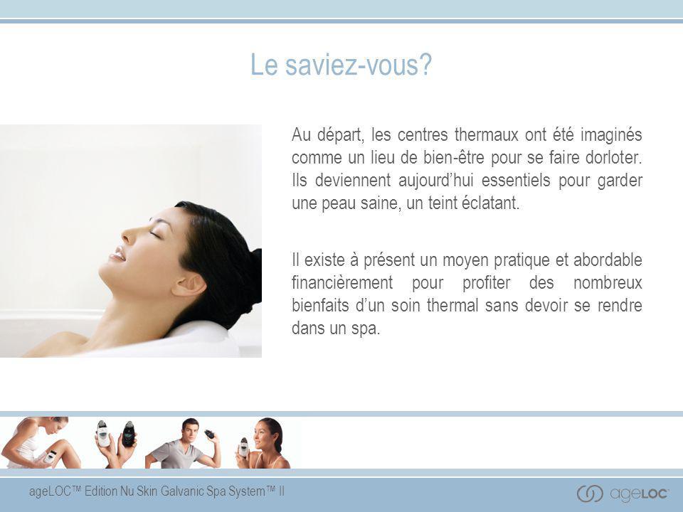 ageLOC™ Edition Nu Skin Galvanic Spa System™ II Pre-Treatment Gel Ingrédients-clés  Extrait de souci – apaise la peau.