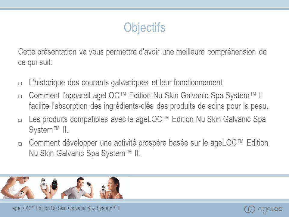 ageLOC™ Edition Nu Skin Galvanic Spa System™ II Qu'est-ce qu'un traitement galvanique .