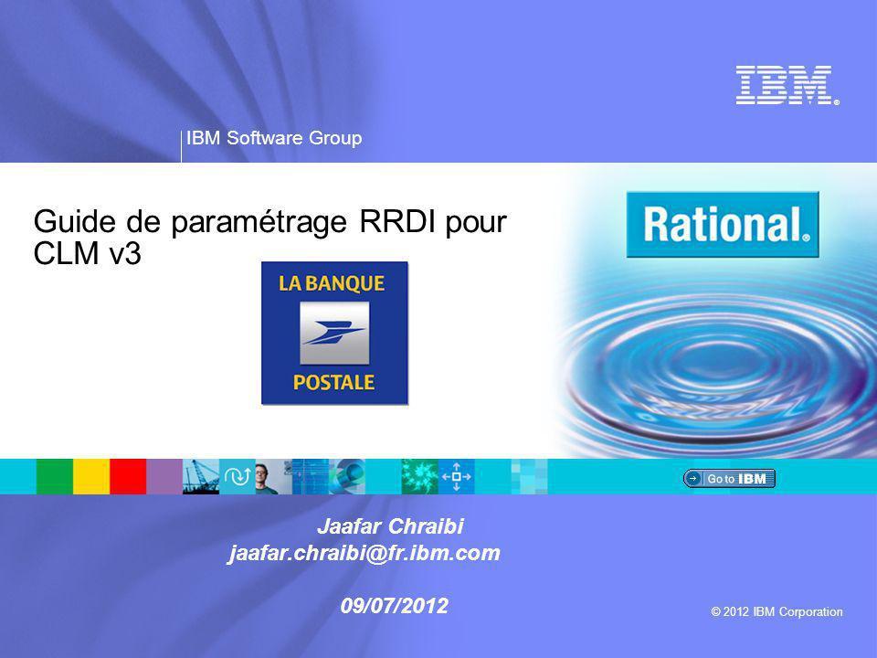 IBM Software Group | Rational software ® 2 Agenda  Installation  Ajout des sources RRDI locales à Installation Manager  Installation de RRDI  Paramètres dans l'environnement LBP (Pilote)