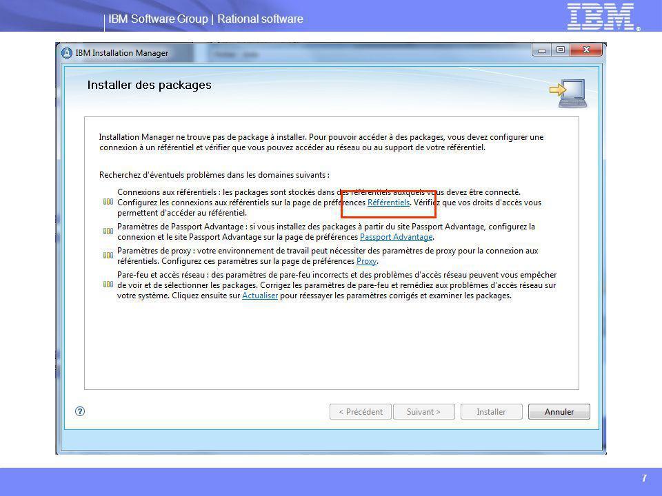 IBM Software Group | Rational software ® 18 Installation de Websphere Application Server:  Plusieurs options sont disponibles, comme décrit ci-dessous: