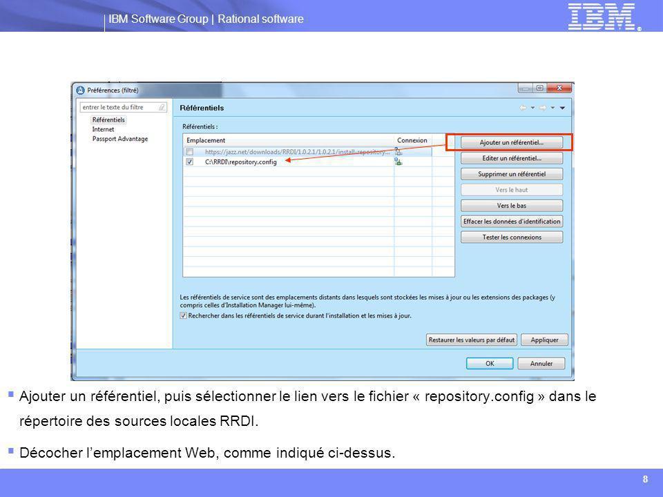IBM Software Group | Rational software ® 29  L'ensemble des étapes décrites précédemment permettent de paramétrer RRDI, et de vérifier par la suite que l'instance fonctionne correctement.
