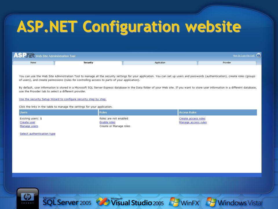 ASP.NET Configuration website