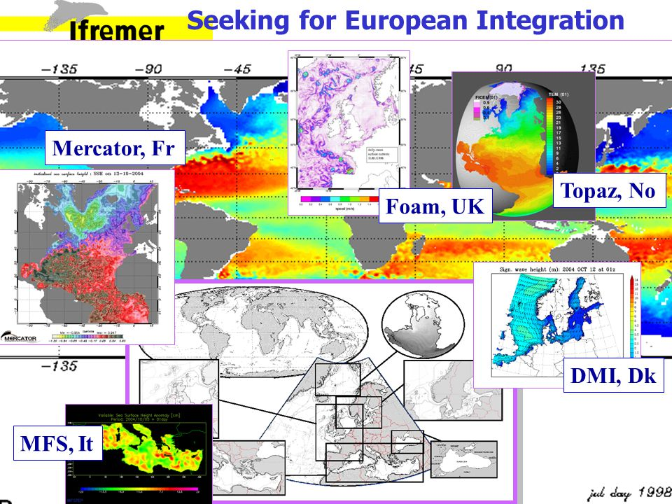 GMES Seeking for European Integration Topaz, No Foam, UK DMI, Dk MFS, It Mercator, Fr